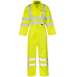 Supertouch Hi Vis Yellow Coverall