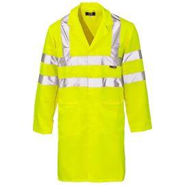 Supertouch Hi Vis Yellow Coat