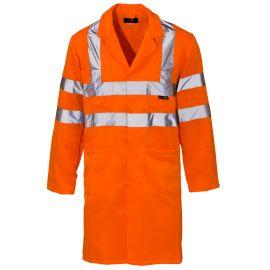 Supertouch Hi Vis Orange Coat