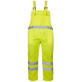 Supertouch Hi Vis Yellow Polycotton Bib Trousers
