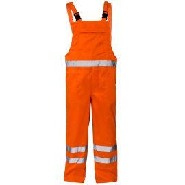 Supertouch Hi Vis Orange Polycotton Bib Trousers