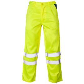 Supertouch Hi Vis Yellow Polycotton Trousers