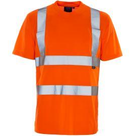 Supertouch Hi Vis Orange Bird Eye T-Shirt
