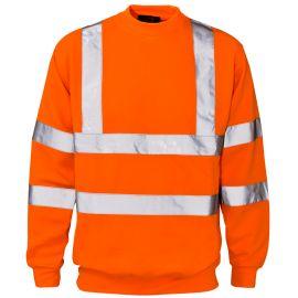 Supertouch Hi Vis Orange Crew Neck Sweatshirt