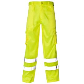 Supertouch Hi Vis Yellow Combat Trousers