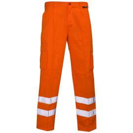 Supertouch Hi Vis Orange Combat Trousers