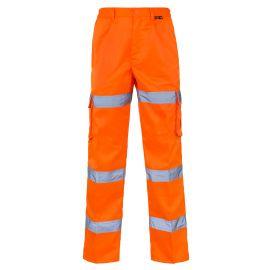 Supertouch Hi Vis Orange 3 Band Combat Trousers
