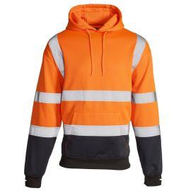 Supertouch Hi Vis Orange 2 Tone Hooded Sweatshirt