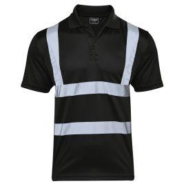 Supertouch Hi Vis Black Bird Eye Polo Shirt